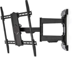 Zwarte Nedis premium muurbeugel voor schermen tot 90 inch / full motion (3 draaipunten)