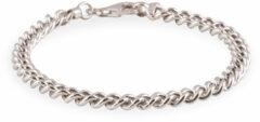 Zilveren schakelarmband best basics 19 cm - gourmetschakel - 5.5 mm - gerodineerd 104.1253.19