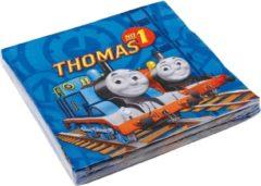 Blauwe Trademark Set van 20 servetten Thomas en zijn vriendjes™ - Feestdecoratievoorwerp