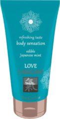 Transparante Shiatsu Love Eetbaar Glijmiddel - Japanse Mint