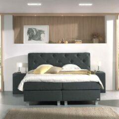 Antraciet-grijze Sleeptime Dreamhouse Bergamo Comfort Boxspring - Boxspring - Pocketvering - 140x200 - Antraciet
