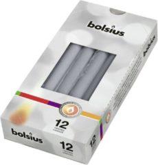 Bolsius Gotische Kaarsen Zilver 245/24 12 stuks - 1 pak - 12 zilveren kaarsen
