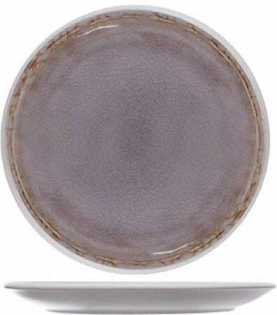 Afbeelding van Paarse Cosy&Trendy Cosy en Trendy Samira Bordje-ondertas D15cm Aardewerk - (Set van 6) En Yourkitchen E-kookboek - Heerlijke Smulrecepten