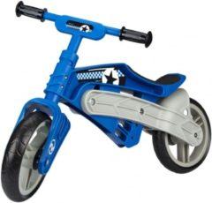Nijdam Loopfiets verstelbaar N Rider Loopfiets Met 2 Wielen 10 Inch Junior Blauw