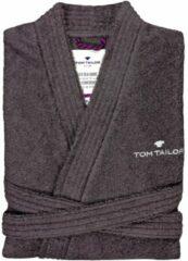 Grijze TOM TAILOR Basic badjas, dunkelgrau / dark grey, M