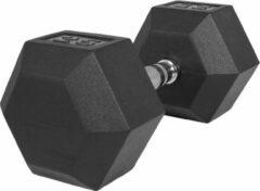 Zwarte Gorilla Sports Dumbell 25 kg (1 x 25 kg) Hexagon Rubber