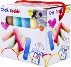 Chalk Stoepkrijt 15 stuks - Stoepkrijt voor buiten - 5 Kleuren
