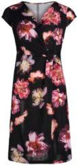 Rosa Casual-Kleid mit Blumenprint Cartoon Schwarz/Pink - Grau