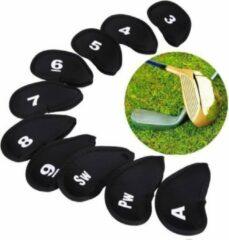Zwarte Jobber Golf - 10 x Golfclub Covers - Golfclub Head - Golf Beschermers - Golfclub Hoes - Golf Accessoires