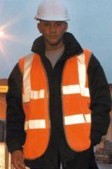 Oranje reflecterend veiligheidsvest S/m - veiligheidshesje