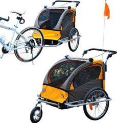 HOMCOM 2 in1 Kinderfahrradanhänger Fahrradanhänger Kinderjogger Kinderwagen Anhänger Jogger Fahrradzubehör Fahrrad Radanhänger