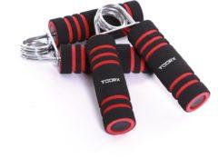 Toorx Fitness Toorx Foam Handknijpers - 2 stuks - Zwart/Rood