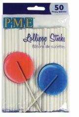 Witte PME Legend PME lollystokjes 11,5cm 50 stuks