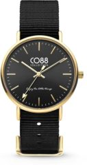 CO88 Collection Watches 8CW 10019 Horloge - Nato Band - Ø 36 mm - Zwart