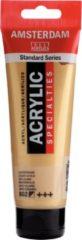 Goudkleurige Royal Talens Amsterdam Standard acrylverf tube 120ml - 802 - Lichtgoud - halfdekkend