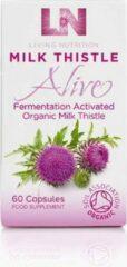 Living Nutrition / Milk Thistle Alive – Gefermenteerde Geactiveerde Biologische Mariadistel – 60 Capsules