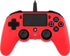 Nacon Playstation 4 Official Licensed Wired Compact Controller - PS4 - Rood