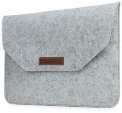 Merkloos / Sans marque 13 inch Macbook en Laptop Soft Sleeve Case Grijs