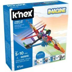 K'NEX bouwset Jumbo Jet junior 15,2 x 5,9 cm 57 stukjes