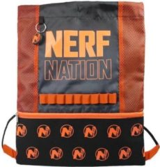 Nerf Gymtas Junior 5 Liter Nylon Oranje/zwart