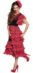 Rode Boland verkleedpak Andalucia dames rood/zwart maat 44/46