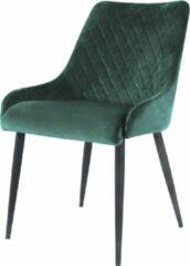 Damiware Eetkamerstoelen Velvet Bella - Product Kleur: Velvet Donkergroen