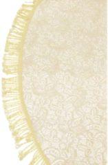 Merkloos / Sans marque Tafelkleed rond 160cm beige met motief