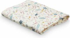 Blauwe Cam Cam inleg matrasje voor verschoonmand - verschoonmatje Pressed leaves Rose
