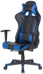 Beliani Bureaustoel zwart/donkerblauw hoogteverstelbaar RACER