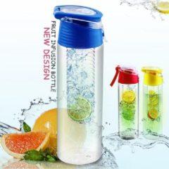 FIGURETTA waterfles met infuser | inhoud 0.7 ltr | BPA-vrij |blauw