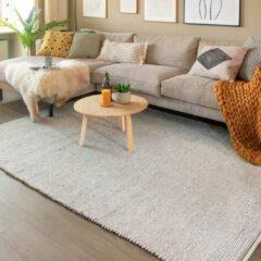 Fraai Wollen vloerkleed - Wise Grijs/Wit No. 609 140x200cm
