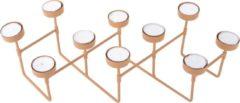 Pt, (Present Time) Harmonica - Waxinelichtjeshouder - IJzer - 16 x 49 x 12,5 cm - Bruin