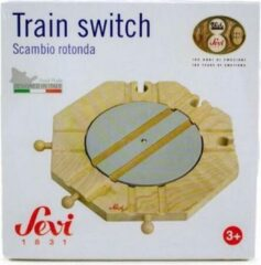 Bruine Sevi Houten treinbaan train switch