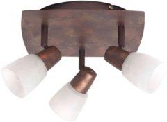 Brilliant Milos 17834/56 Plafondspot LED E14 Energielabel: Afhankelijk van de lamp 120 W Koper, Albast
