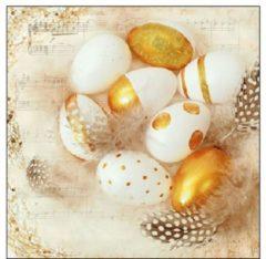 Ambiente Servet 33cm Golden Eggs