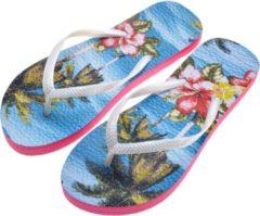Slippers | 40 | Meerkleurig | Kunststof | Palmbomen | Juleeze | JZFF0004-40