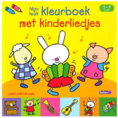 Ons Magazijn Mijn leuk kleurboek met kinderliedjes 2-4 jaar