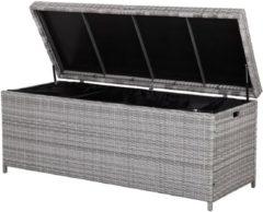 Beliani Kussenbox wicker grijs 158 x 63 cm MODENA