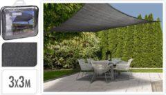 Grijze Merkloos / Sans marque Waterdicht Schaduwdoek - Zonnedoek - UV & Weerbestendig - Vierkant 3x3M