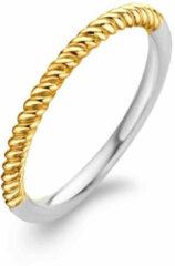 Ti Sento Milano TI SENTO - Milano 1936SY Ring zilver- en goudkleurig gedraaid Maat 54