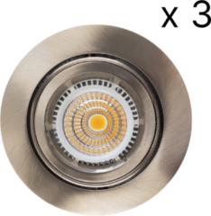 Roestvrijstalen Verlichtingsset Sanimex Njoy 3 LED Spots 9x6 cm RVS Look