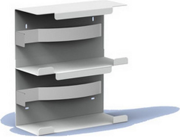 Afbeelding van Roestvrijstalen Handschoendispenser duo aluminium van MediQo-line