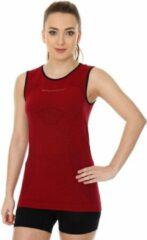 Brubeck Dames Sportkleding - 3D PRO Hardloopshirt / Sportshirt Mouwloos - Naadloos -Cherry-S