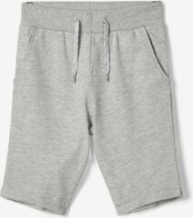 Licht-grijze Name it Jongens Short - Grey Melange - Maat 164