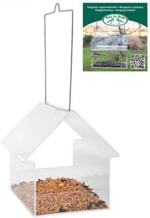 Afbeelding van Roestvrijstalen Esschert Design UNO - Vogelvoederhuisje - Transparant - 15 cm x 15 cm x 15 cm