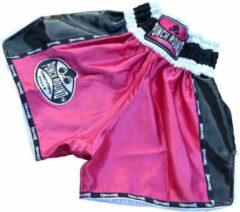 Punch Round™ Punch Round Kickboks Broekjes Dames Carbon Roze Muay Thai Shorts M = Jeans maat 32