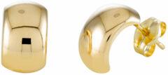 Goudkleurige Gold Collection Glow oorknoppen - halve oorringen - geelgoud