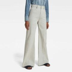 G-Star RAW Dames Deck Ultra High Wide Leg Jeans Beige