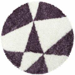 TANGO SHAGGY Himalaya Maxima Soft Shaggy Rond Hoogpolig Vloerkleed Paars / Wit- 80 CM ROND