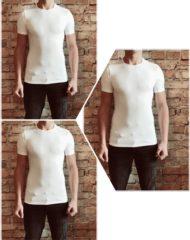 Merkloos / Sans marque DICE Underwear 3-pack Heren T-shirt V-hals wit maat M